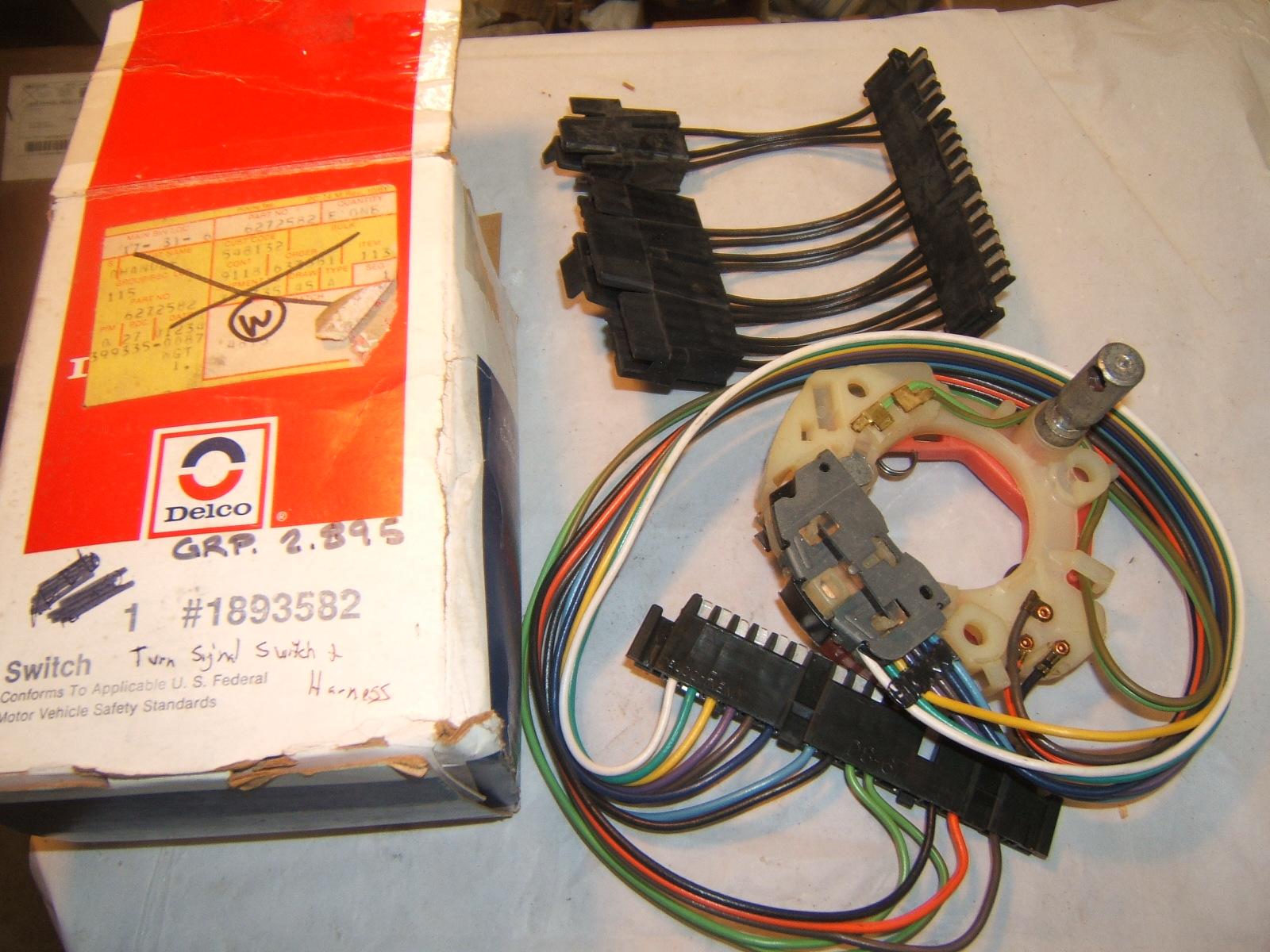 1969 -76 oldsmobile cadillac pontiac nos delco turn signal switch 1893582