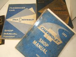 61 62 63 shop chevrolet manual