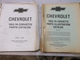 78 corvette parts book