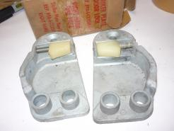 1959-1966 For Door Lock Striker Plates pair Lincoln Mercury Edsel (a fmc14)
