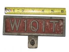 1930's-1940's original license plate topper # oltp