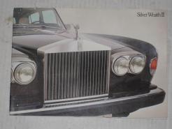 1977 1978  Rolls Royce Silver Wraith II sales advertising catalog brochure # 77rrswsb