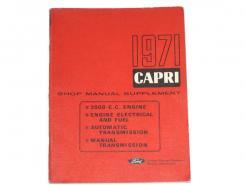 1971 thru 1976 Mercury Capri shop manual supplement # lm-7987-71