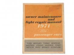 1971 Ford Mercury owner maintenance & light repair manual # 7987-71